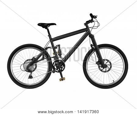 Bicycle isolated on white background. 3D render