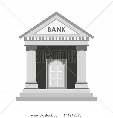 bank building construction silhouette icon vector illustration graphic