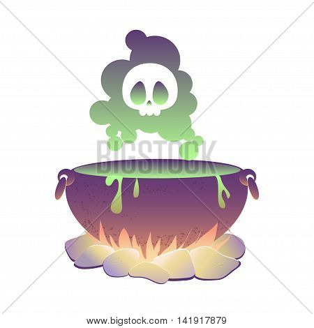Witch cauldron with poison. vector illustration  eps10