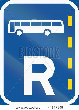 Road Sign Used In The African Country Of Botswana - Reserved Lane For Buses