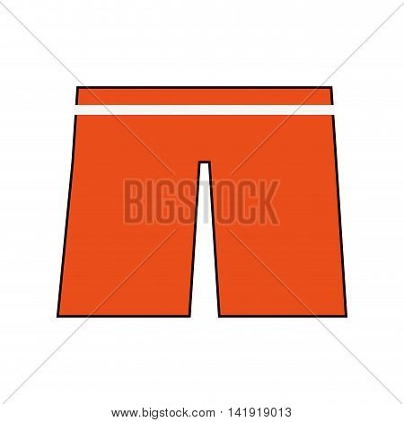 flat design swimwear shorts icon vector illustration