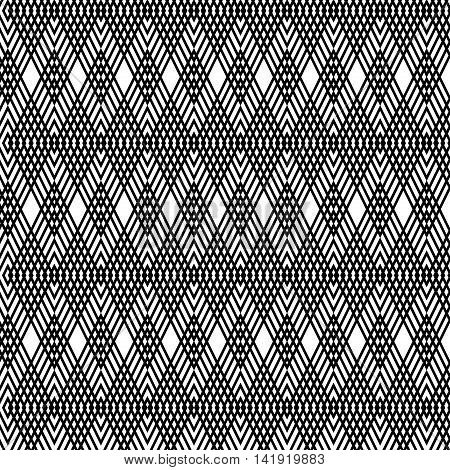 Abstract geometric background. Optical illusions elongated rhombs. Seamless texture