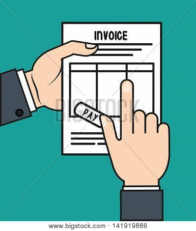 document paper invoice payment icon. Flat and Colorfull illustration. Vector graphic