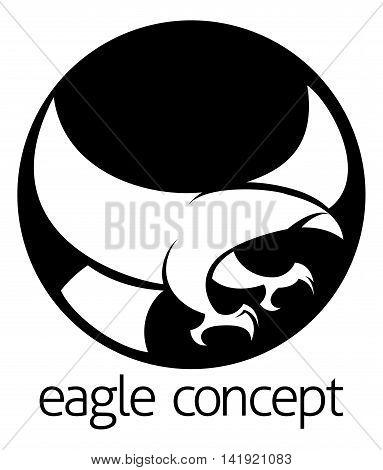 Abstract Eagle Circle Concept