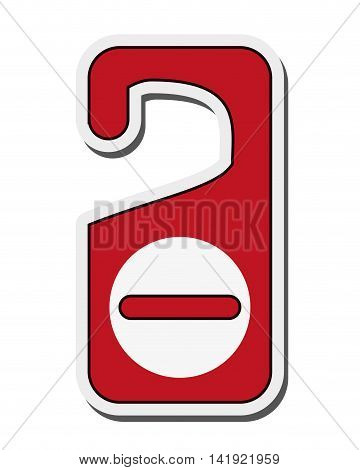 flat design do not disturb sign vector illustration