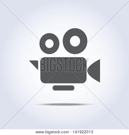 Video camera icon, camcorder symbol. Vector illustration