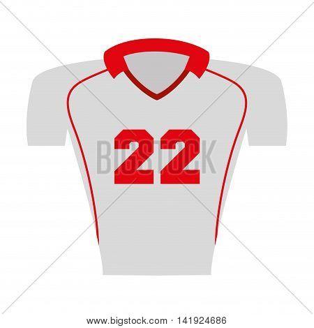 shirt captain football american sport vector illustration icon design