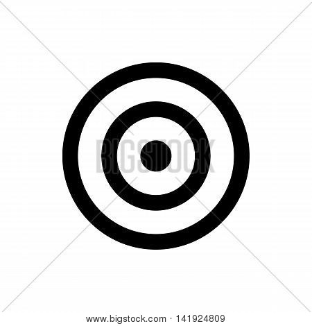 darts target icon. isolated on white background. vector illustration