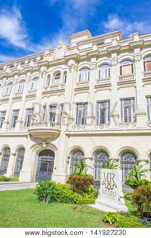 HAVANA CUBA - JULY 18 : The museum of the revolution in Havana on July 18 2016. The museum is housed in what was the Presidential Palace