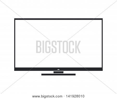 flat design modern tv screen icon vector illustration