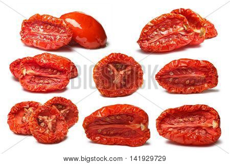 Set Of Plain And Oiled Sundried Tomatoes, Paths