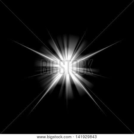 Radiant flash like a cosmic star.