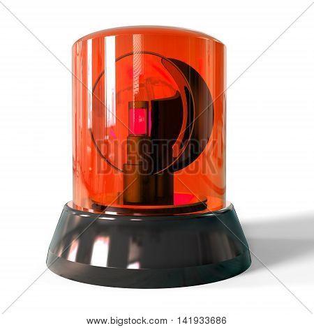 3D Red Siren