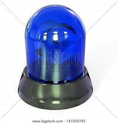 3D Blue Siren