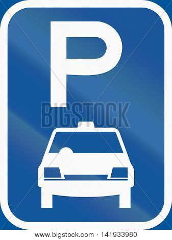 Road Sign Used In The African Country Of Botswana - Parking For Taxis
