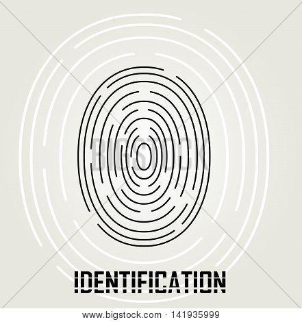 Simply fingerprint icon. Identification vector concept sign