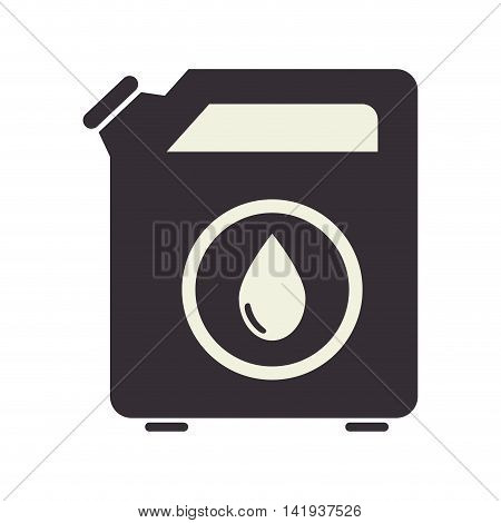 oil fuel can , isolated flat icon design