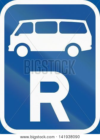 Road Sign Used In The African Country Of Botswana - Reservation For Mini-buses