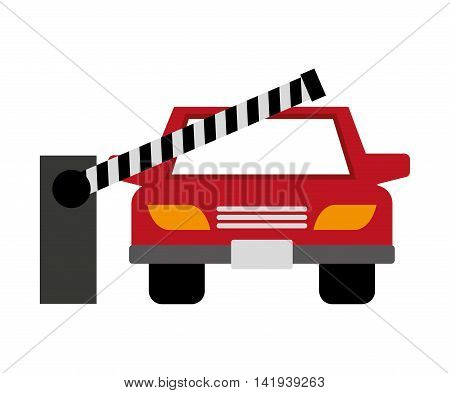 barricade parking isolated icon vector illustration design