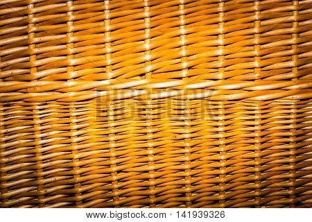 Wicker Background In Close Up.