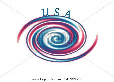 USA Swirl design.  Hurricane in red white and blue!