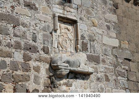 Knight Symbols In Bodrum Castle