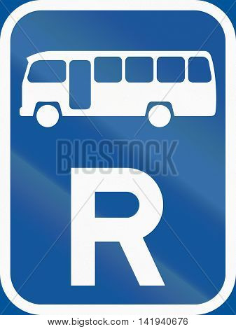 Road Sign Used In The African Country Of Botswana - Reservation For Midi-buses