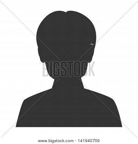 Male profile silhouette, isolated flat icon design