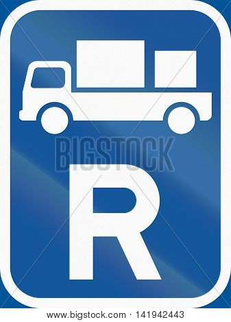 Road Sign Used In The African Country Of Botswana - Reservation For Delivery Vehicles