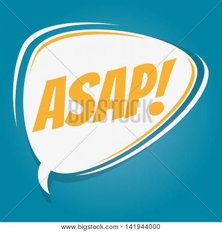 asap retro speech balloon