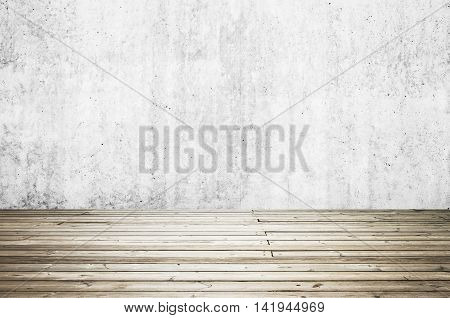 Uncolored Old Dark Gray Wooden Floor. Background