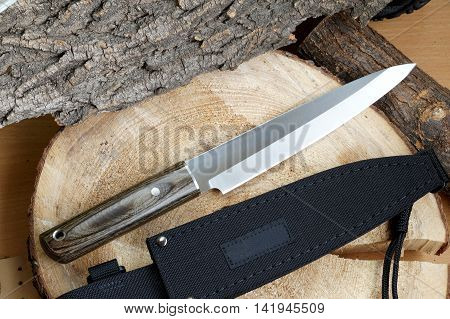 Knife tourist fillet for thin cutting of fish