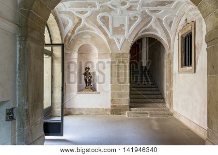 Nowy Wisnicz interior castle in Poland near Cracow