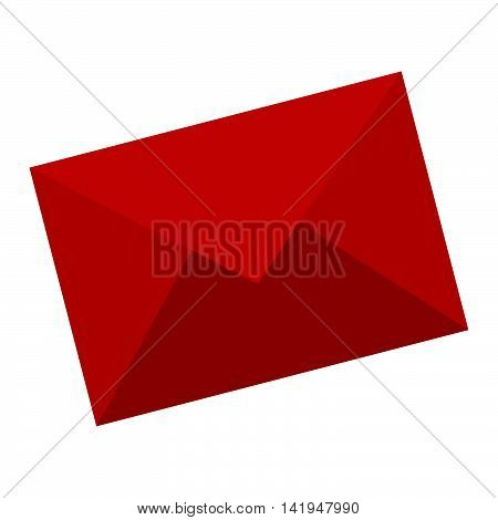 Electronic mail or mailing isolater flat icon, vector illustration.