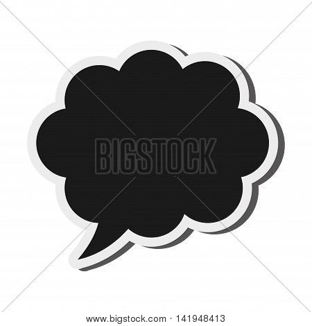 flat design black conversation bubble icon vector illustration