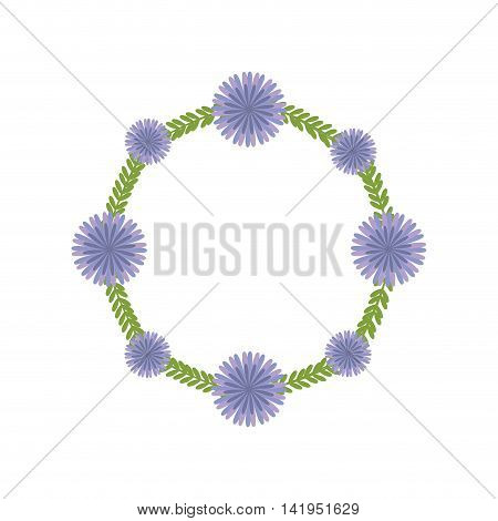 flower crown circle garden floral nature plant icon. Isolated and flat illustration. Vector graphic