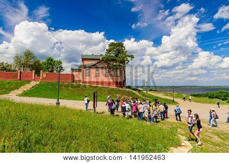 Island Sviyazhsk, Russia - June 12, 2016: Excursion on the island of Sviyazhsk in the June 12, 2016, Sviyazhsk island, Russia.