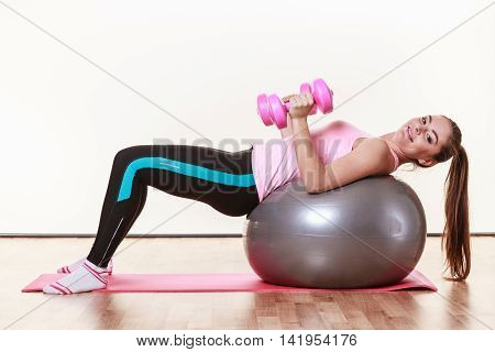 Happy Lady Doing Some Workout.
