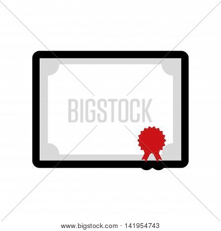 diploma seal stamp paper document icon. Isolated and flat illustration. Vector graphic