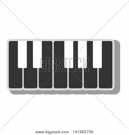Music instrument isolated flat icon graphic design