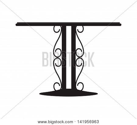 flat design forged metal table icon vector illustration