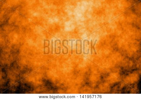 Abstract orange and black fire background or party invitation for Halloween or Thanksgiving
