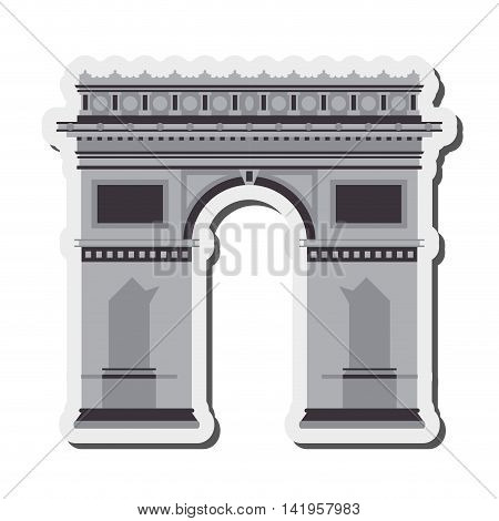 flat design arc de triomphe icon vector illustration