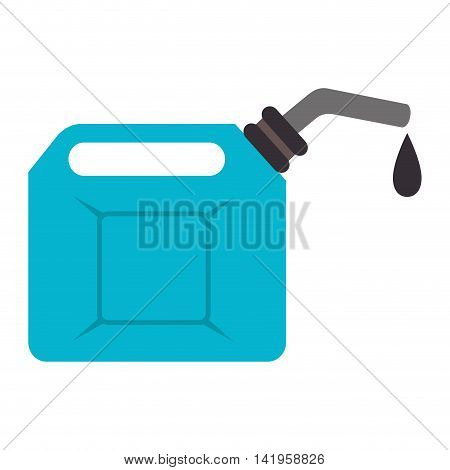 fuel oil can, isolated flat icon design