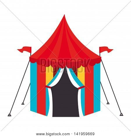 circus carnival tent, isolated flat icon design
