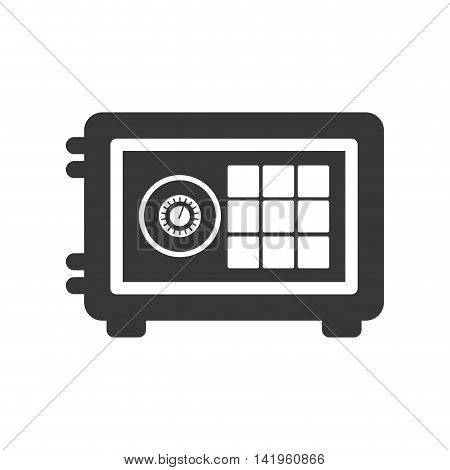 strongbox silhouette money financial icon. Isolated and flat illustration. Vector graphic
