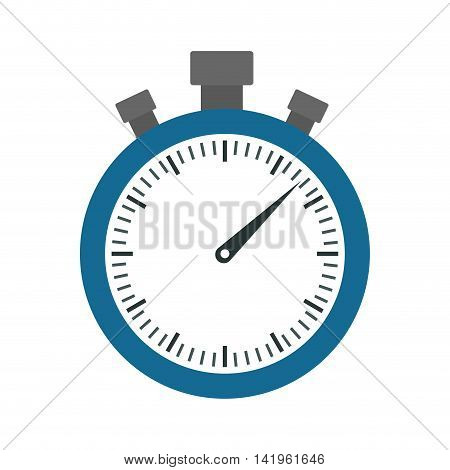 chronometer time instrument seconds icon. Isolated and flat illustration. Vector graphic