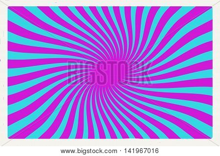 Swirl gradient.  Blue and lines twirled.  Sixties style. Retro