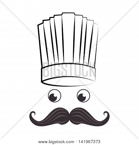 hat chef restaurant, isolated flat icon design