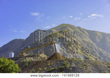 The construction site at the entrance of Fish Canyon Falls Trail Los Angeles